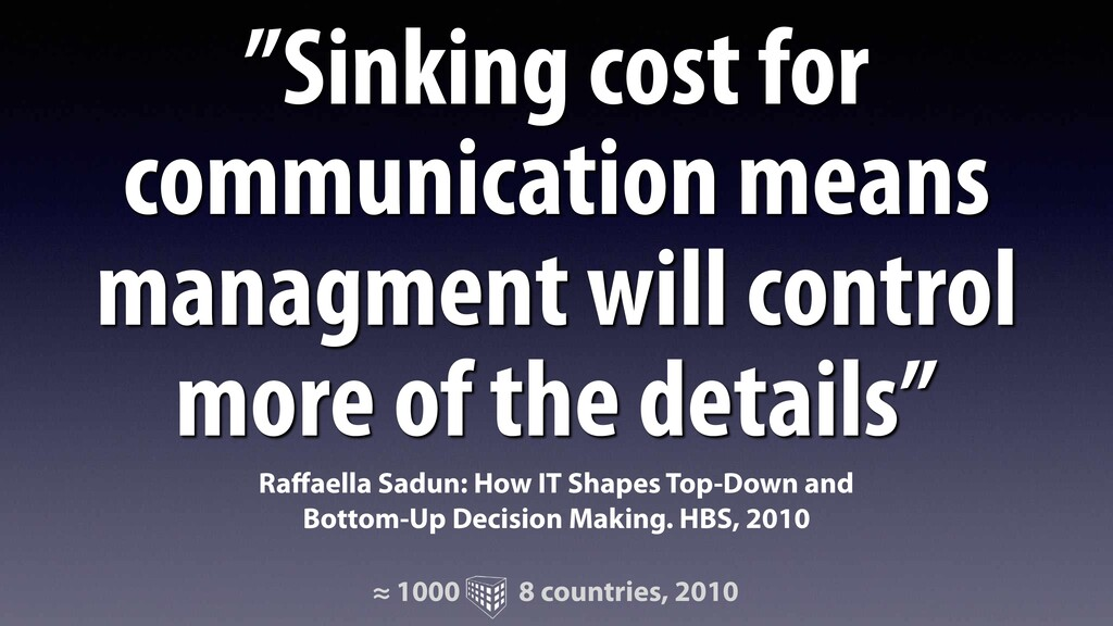 """""""Sinking cost for communication means managment..."""