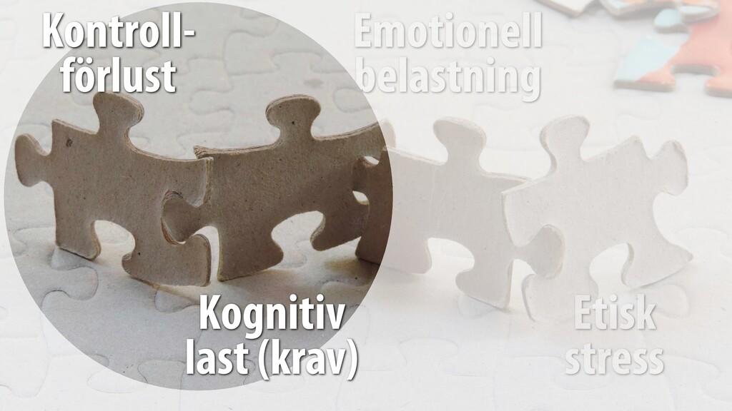 Emotionell belastning Etisk stress Kontroll- f...