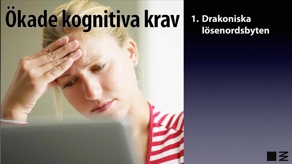 1. Drakoniska lösenordsbyten Ökade kognitiva kr...