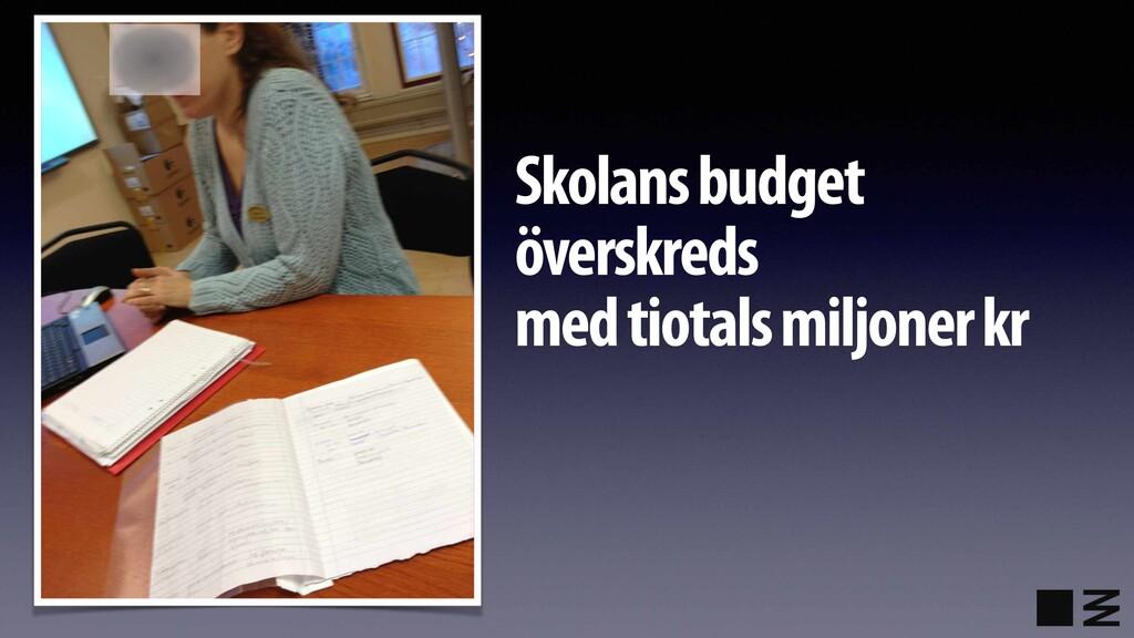 Skolans budget överskreds  med tiotals miljone...