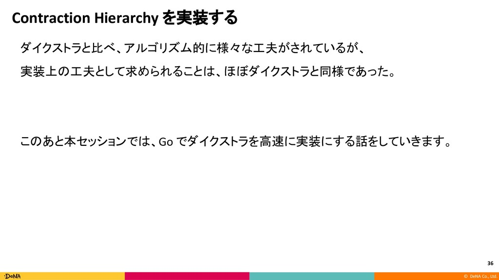 © DeNA Co., Ltd. Contraction Hierarchy を実装する ダイ...