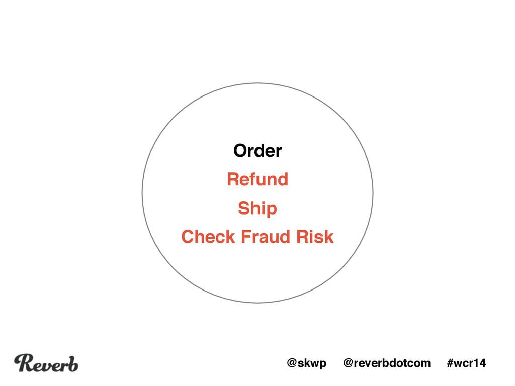 @skwp @reverbdotcom #wcr14 Order Refund Ship Ch...