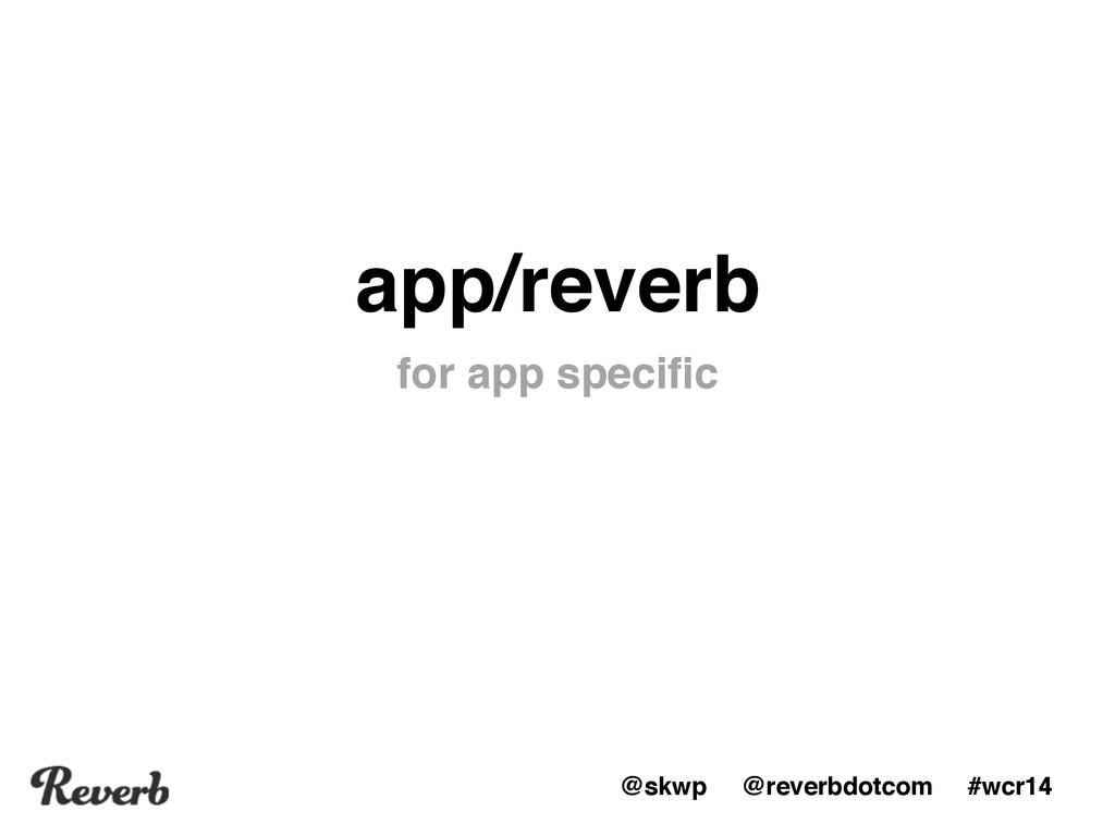 @skwp @reverbdotcom #wcr14 app/reverb for app s...