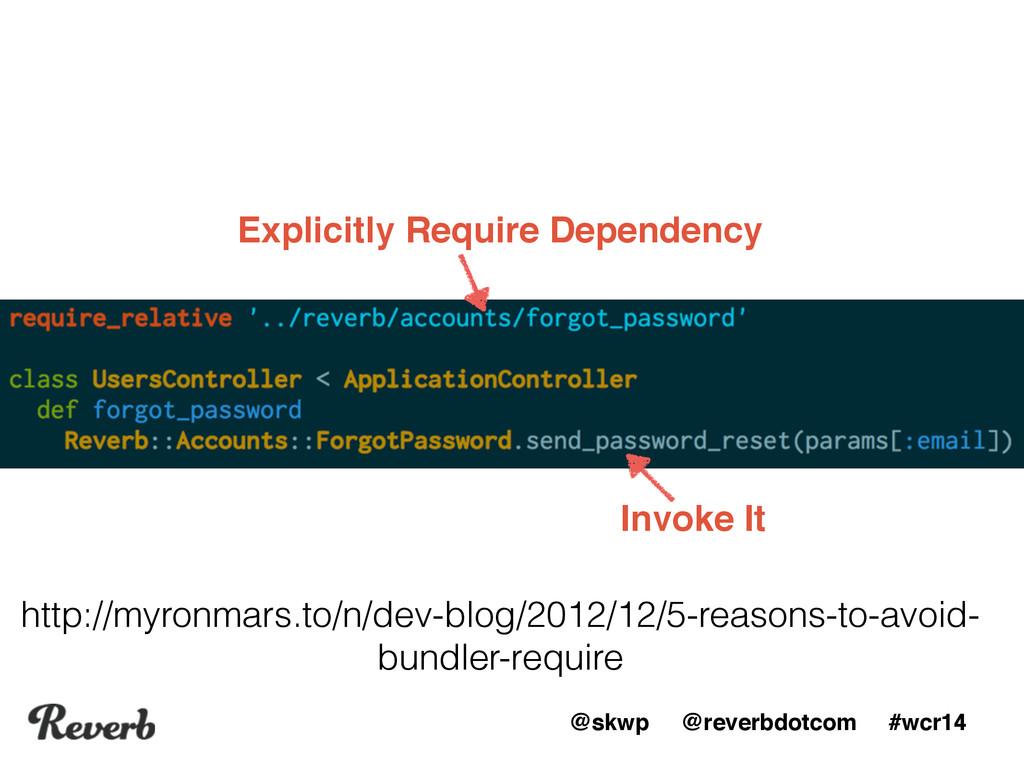 @skwp @reverbdotcom #wcr14 Explicitly Require D...
