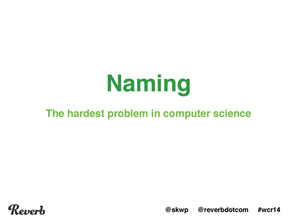 @skwp @reverbdotcom #wcr14 Naming The hardest p...