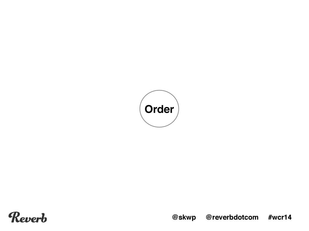 @skwp @reverbdotcom #wcr14 Order