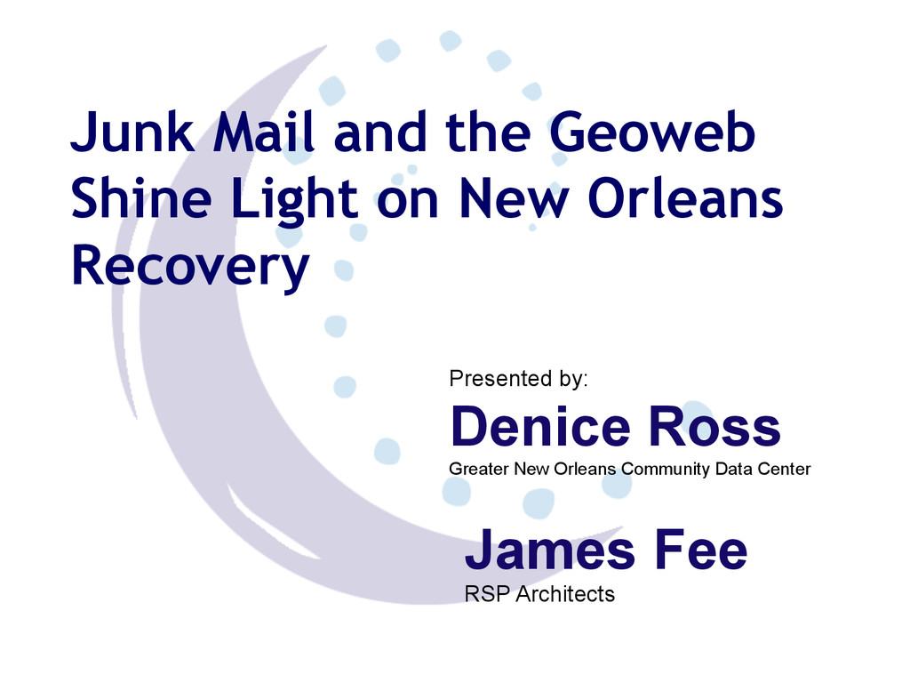 Junk Mail and the Geoweb Shine Light on New Orl...