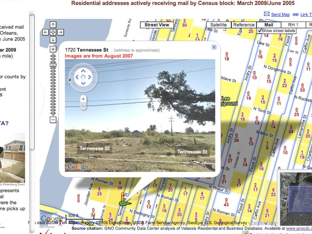 StreetView Aug 2007