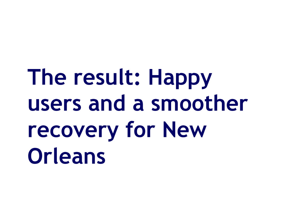The result: Happy users and a smoother recovery...