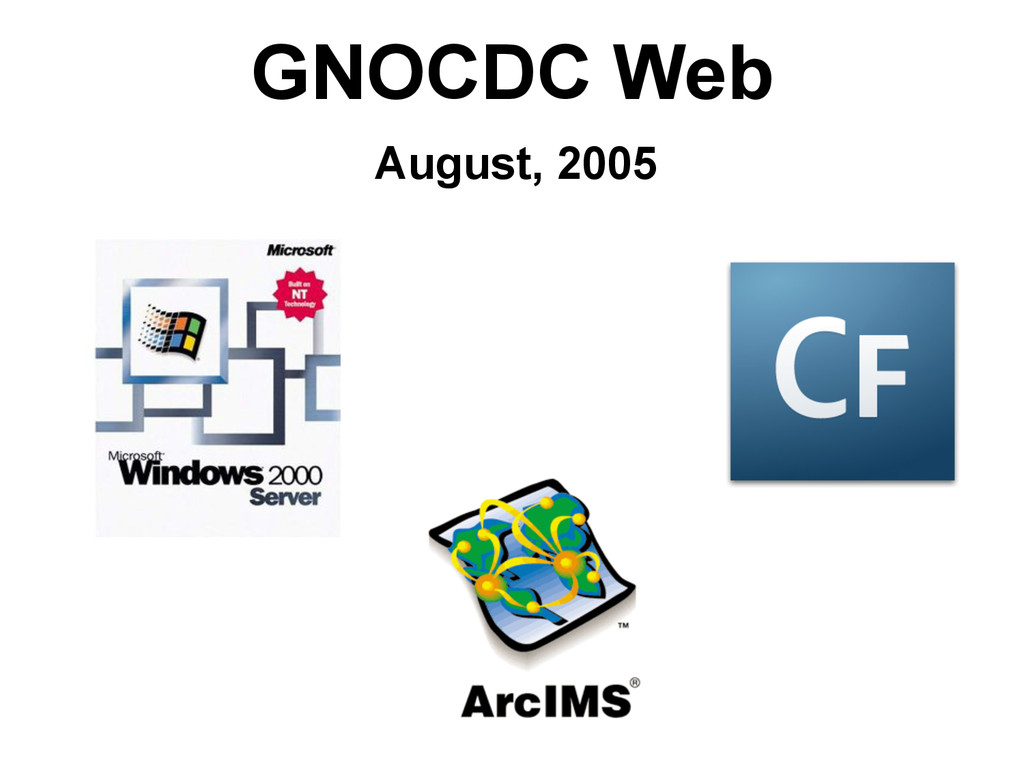 GNOCDC Web August, 2005