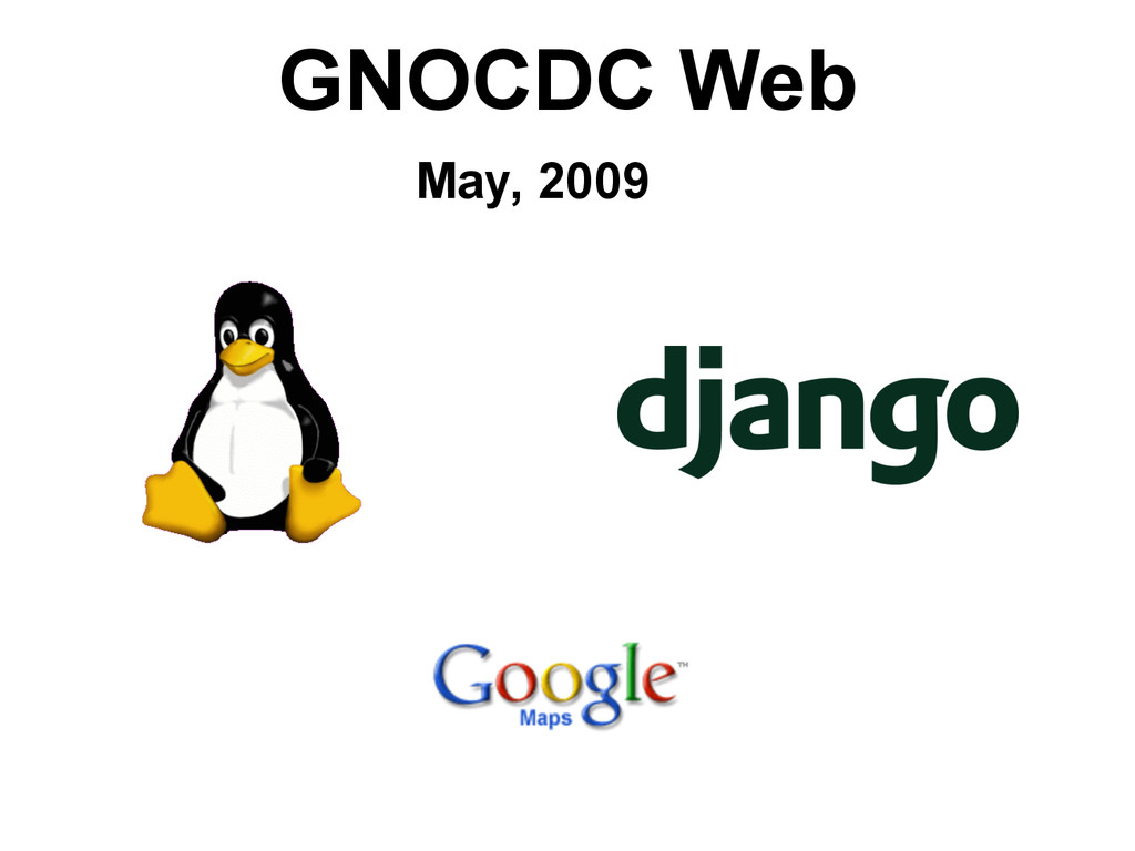 GNOCDC Web May, 2009