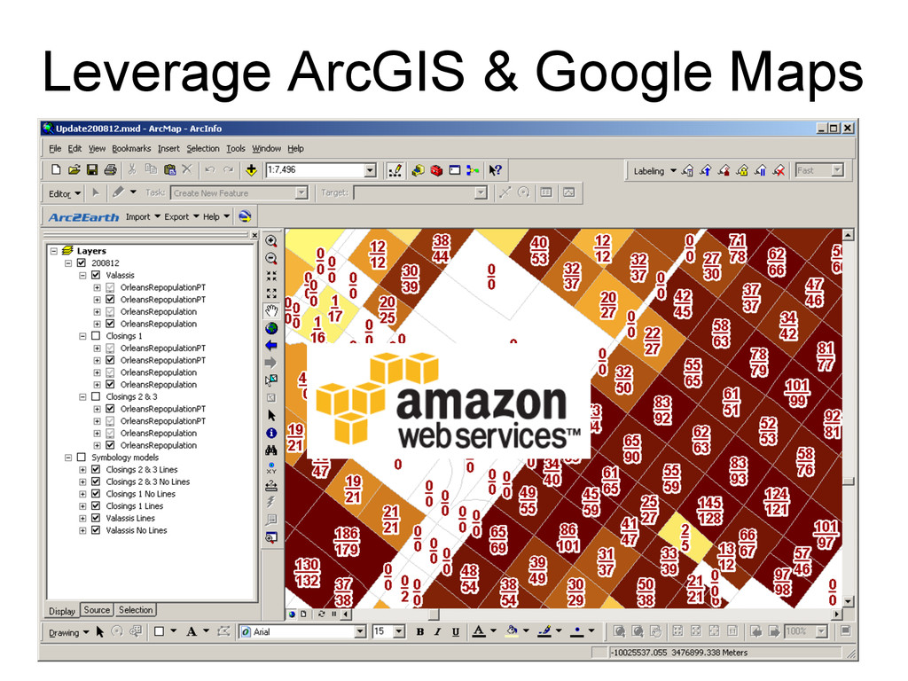 Leverage ArcGIS & Google Maps