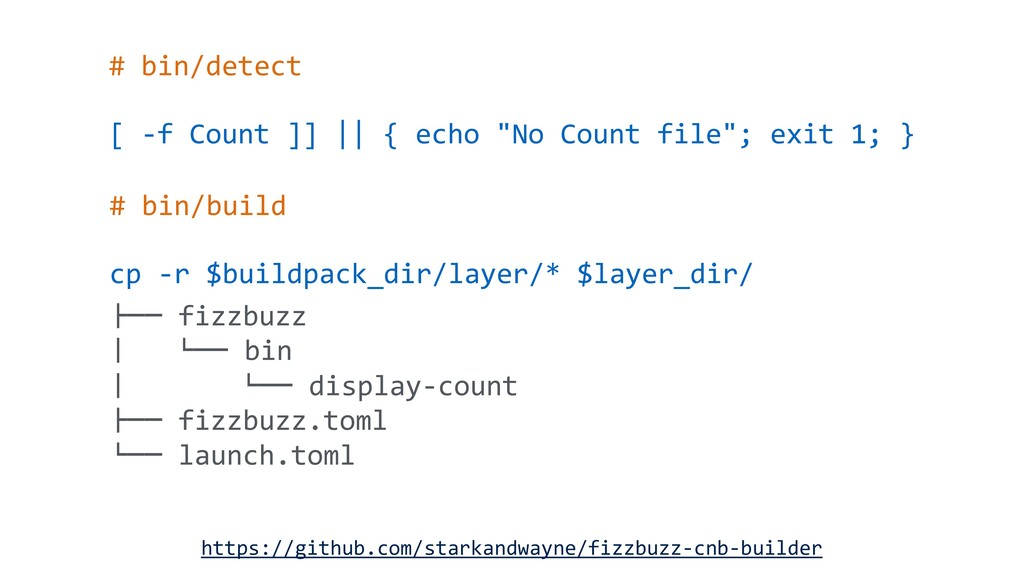 "# bin/detect [ -f Count ]] || { echo ""No Count ..."