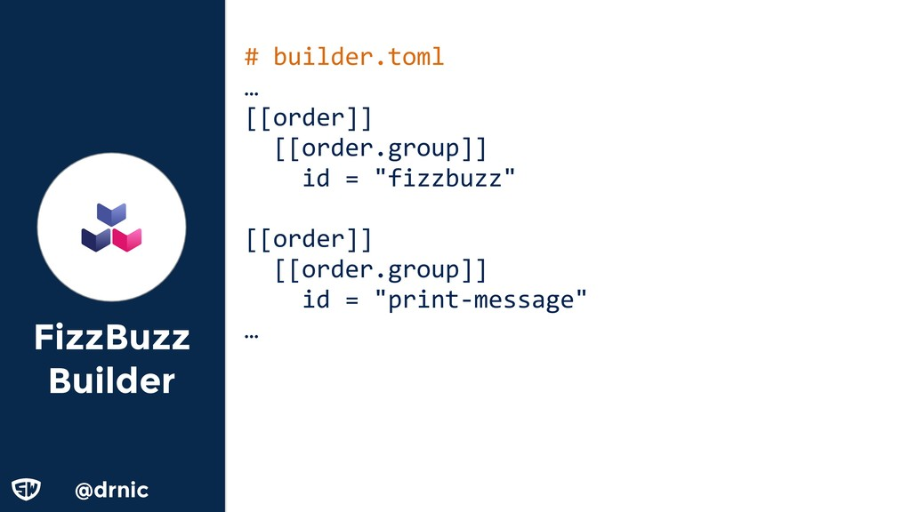 @drnic FizzBuzz Builder # builder.toml … [[orde...