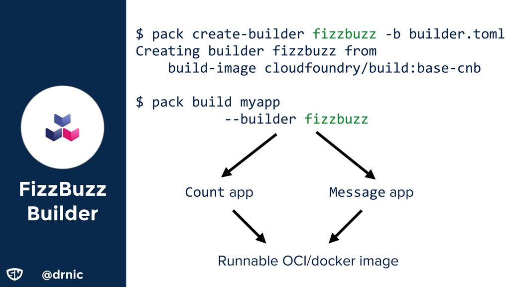 @drnic FizzBuzz Builder $ pack create-builder f...