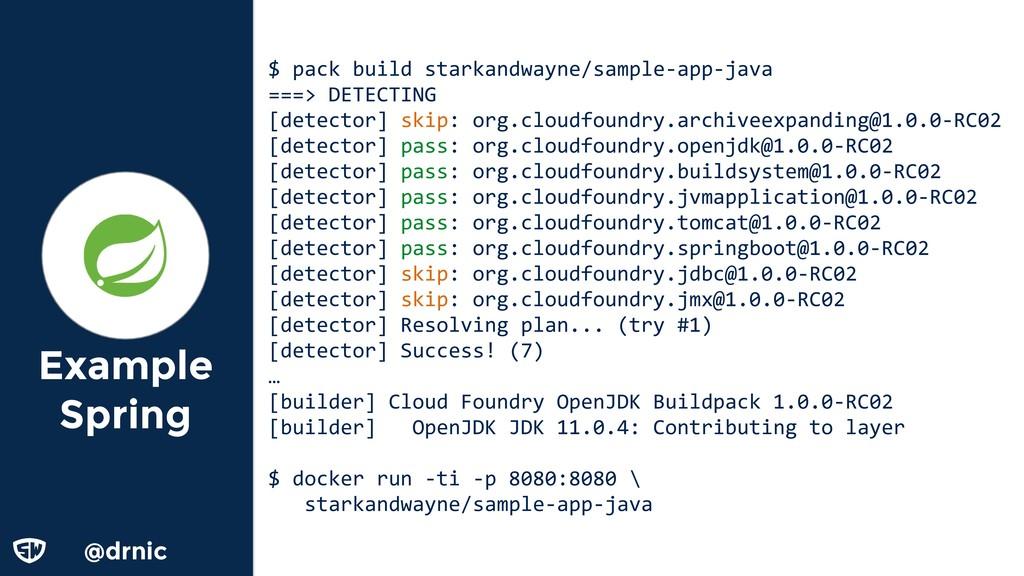 @drnic Example Spring $ pack build starkandwayn...