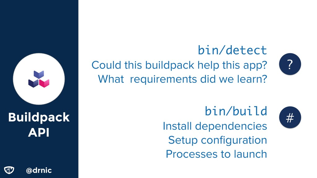 @drnic Buildpack API bin/detect Could this buil...