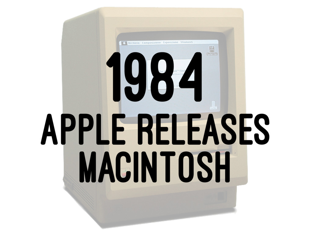 1984 APPLE RELEASES MACINTOSH