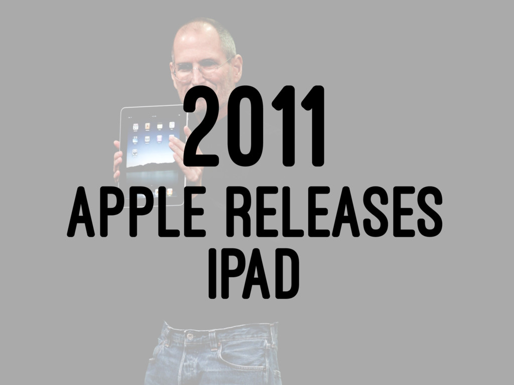 2011 APPLE RELEASES IPAD