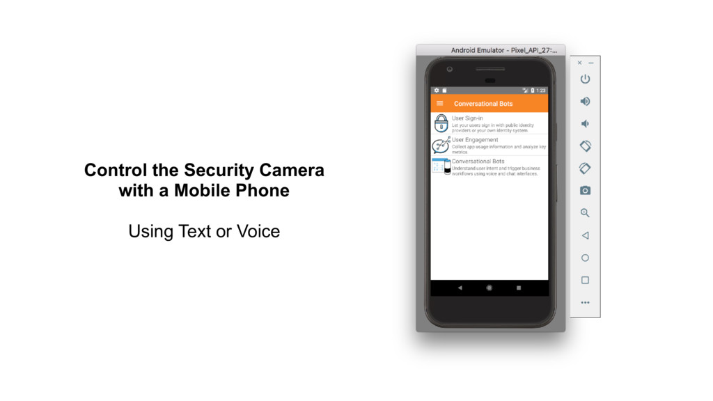 Control the Security Camera with a Mobile Phone...