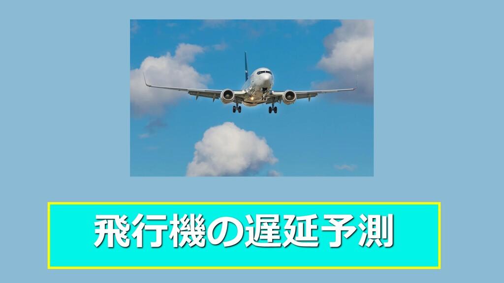 飛行機の遅延予測