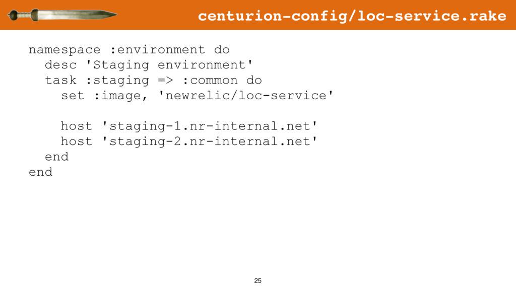 25 namespace :environment do desc 'Staging envi...