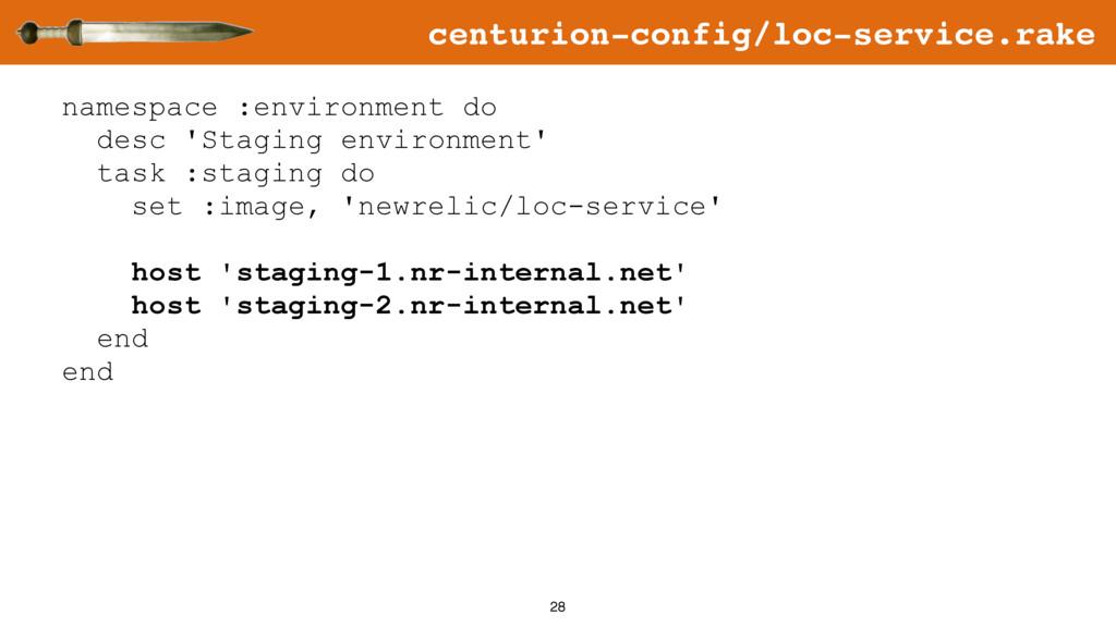 28 namespace :environment do desc 'Staging envi...