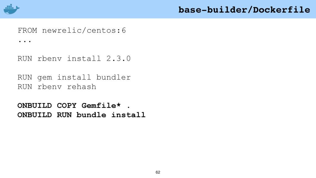 62 FROM newrelic/centos:6 ... RUN rbenv install...