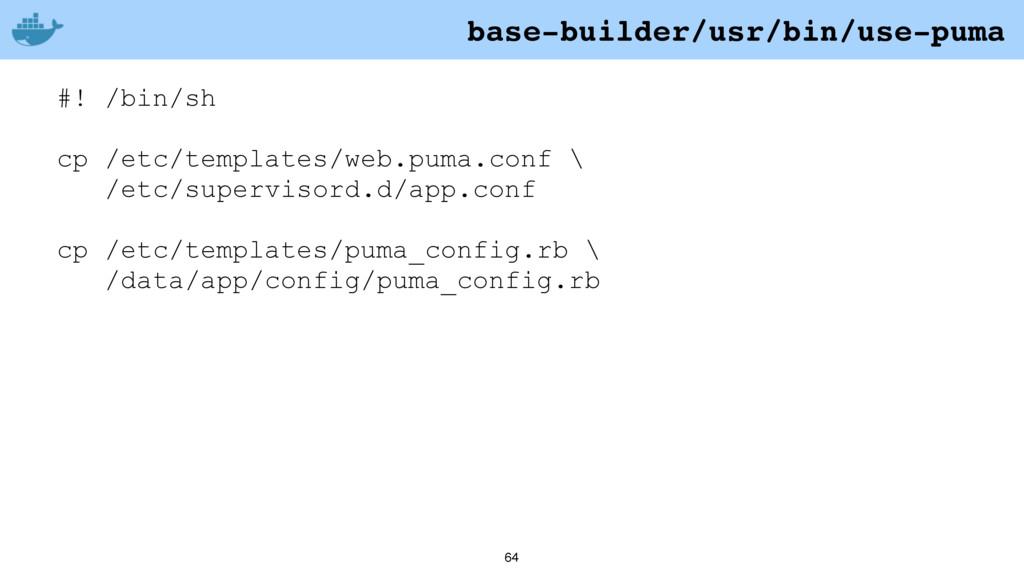 64 #! /bin/sh cp /etc/templates/web.puma.conf \...