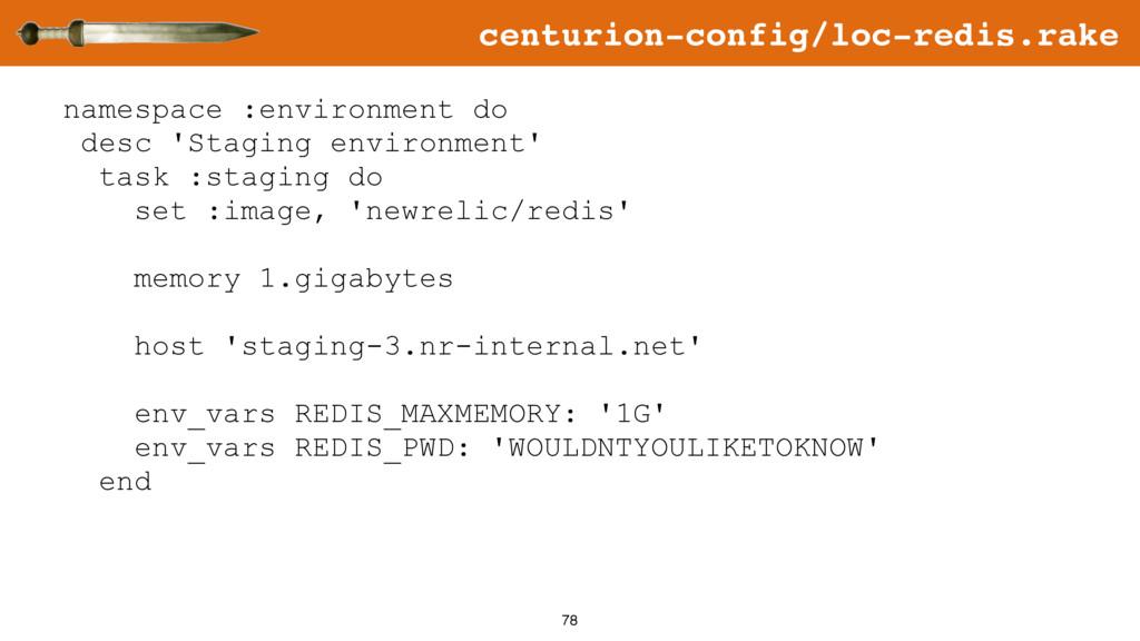 78 namespace :environment do desc 'Staging envi...