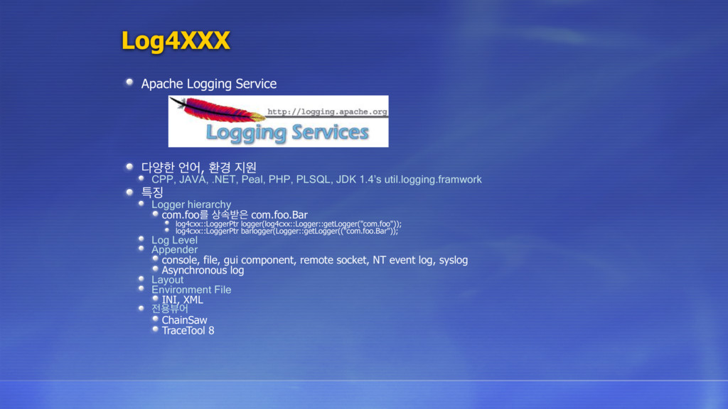 Log4XXX Apache Logging Service নೠ য, ജ҃ ਗ CP...