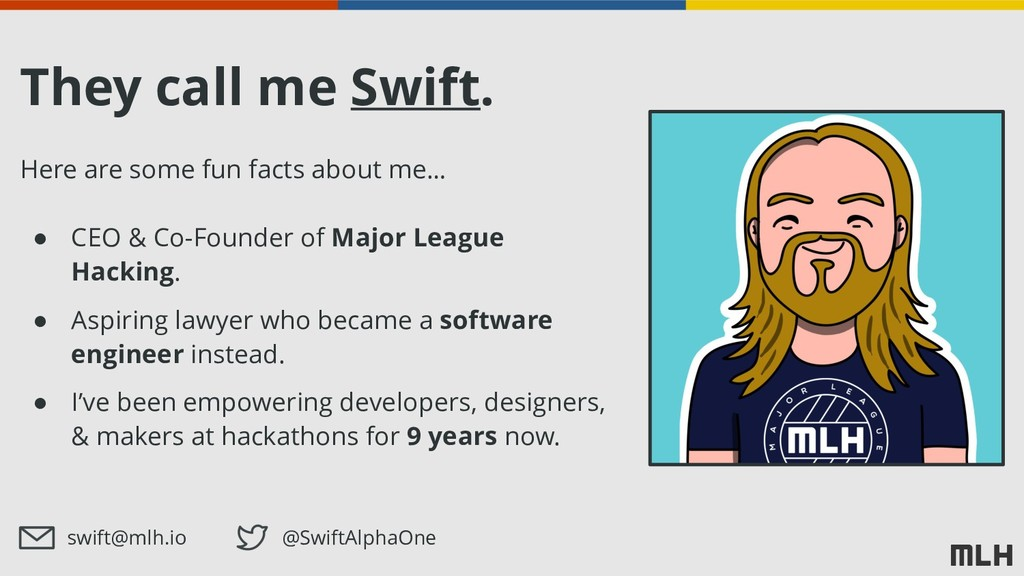 They call me Swift. Here are some fun facts abo...