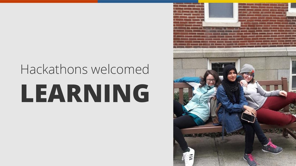 Hackathons welcomed LEARNING
