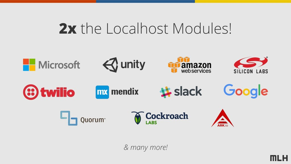 2x the Localhost Modules! & many more!