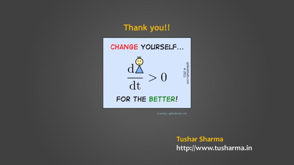 Tushar Sharma http://www.tusharma.in