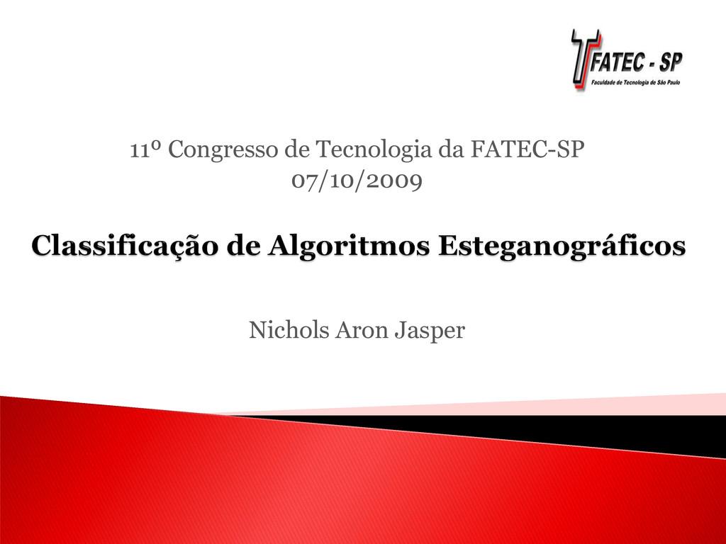 11º Congresso de Tecnologia da FATEC-SP 07/10/2...