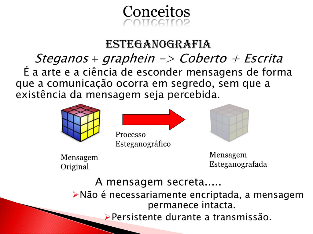 ESTEGANOGRAFIA Steganos + graphein -> Coberto +...