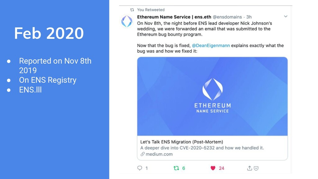 Feb 2020 ● Reported on Nov 8th 2019 ● On ENS Re...