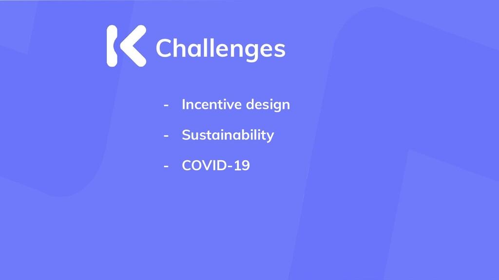- Incentive design - Sustainability - COVID-19 ...