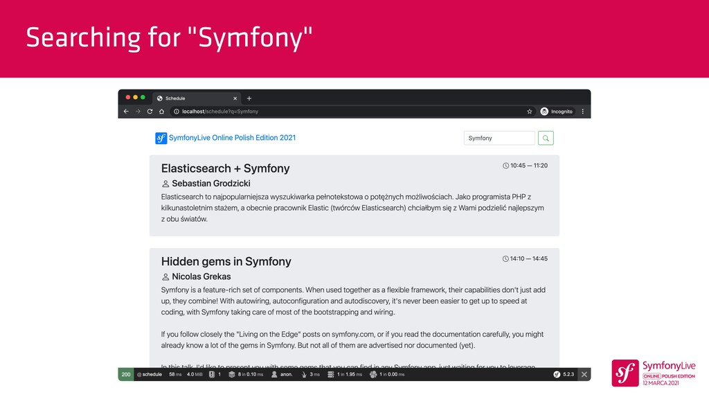 """Searching for """"Symfony"""""""