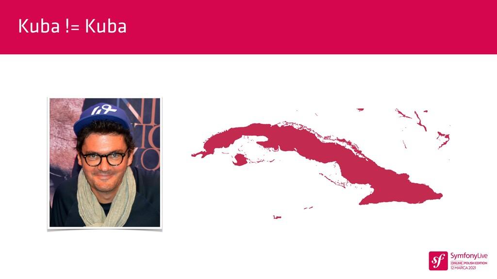Kuba != Kuba