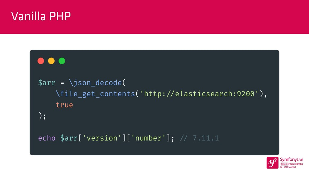 Vanilla PHP