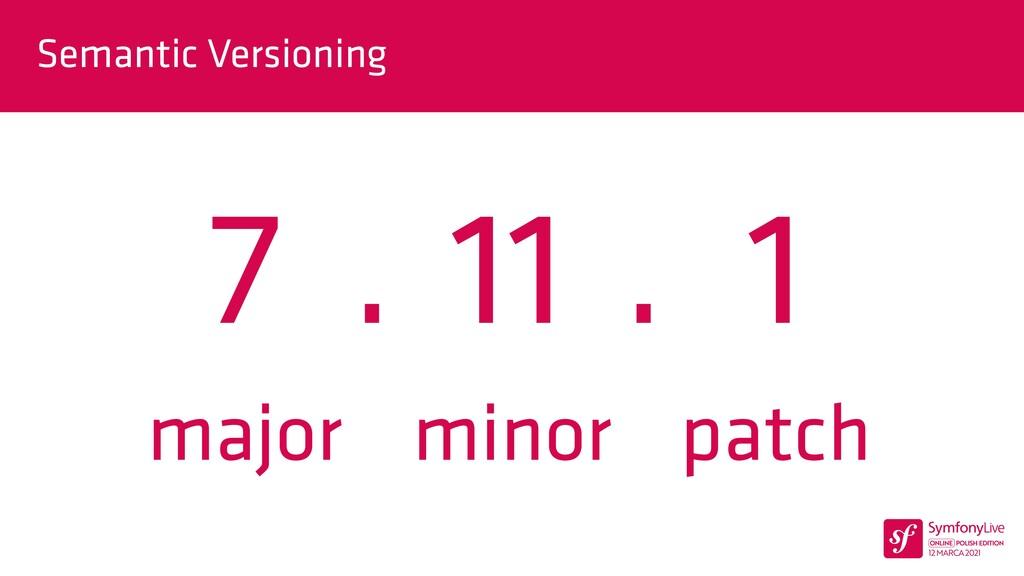 . . Semantic Versioning 7 11 1 major minor patch