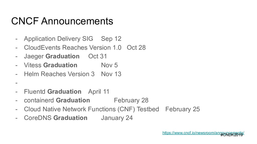 CNCF Announcements - Application Delivery SIG S...