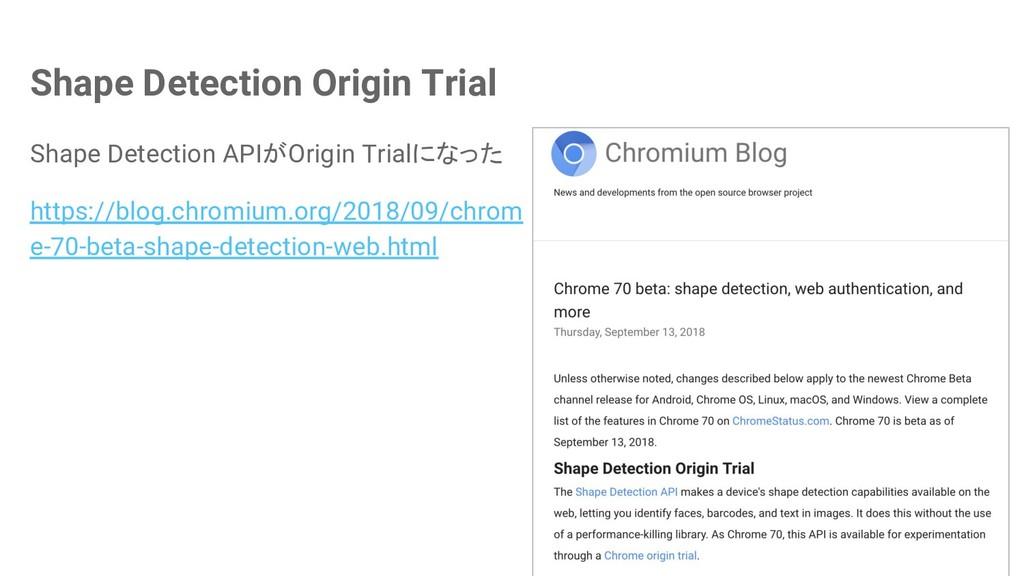 Shape Detection Origin Trial Shape Detection AP...