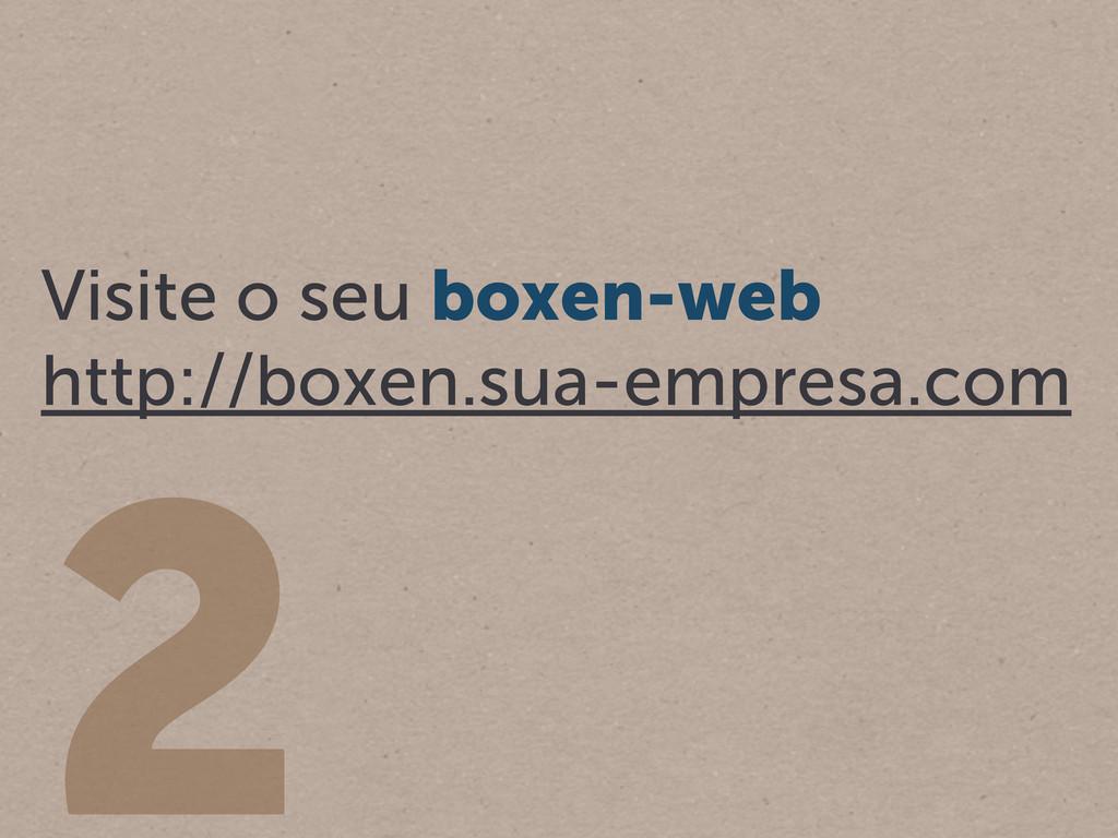2 Visite o seu boxen-web http://boxen.sua-empre...