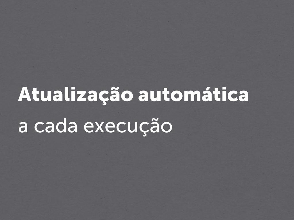 Atualização automática a cada execução