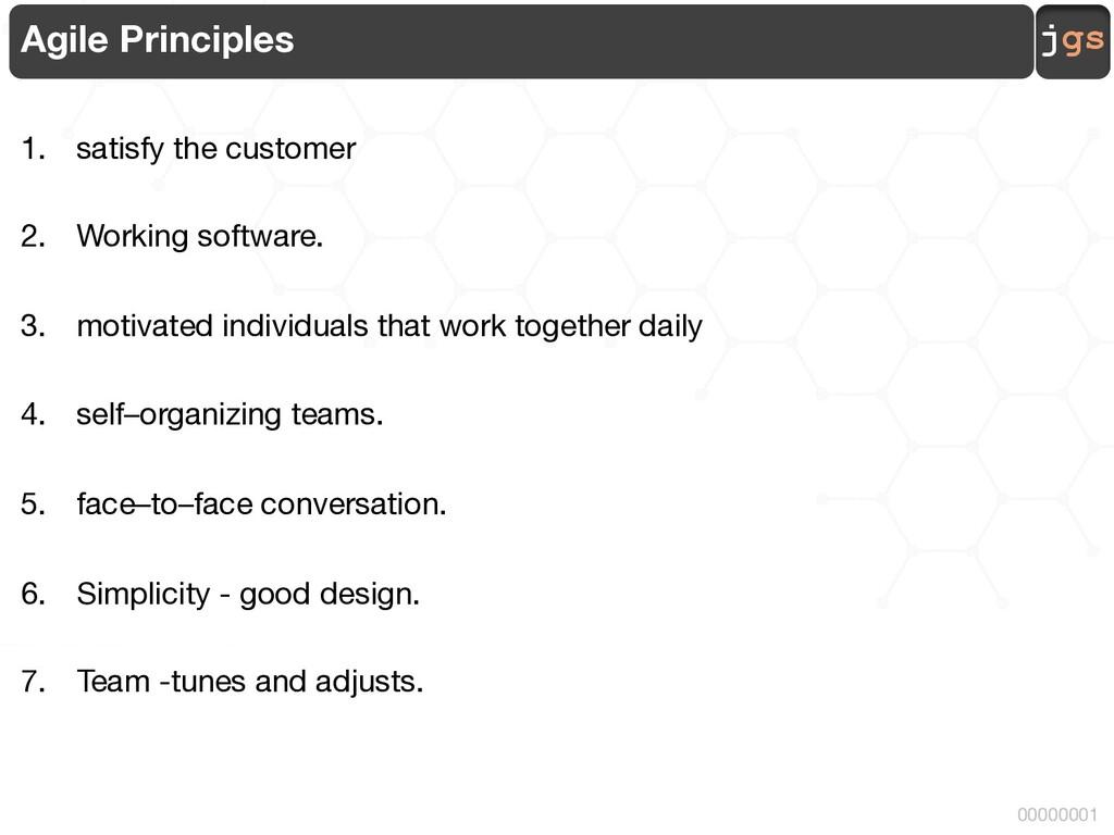 jgs 00000001 Agile Principles 1. satisfy the cu...