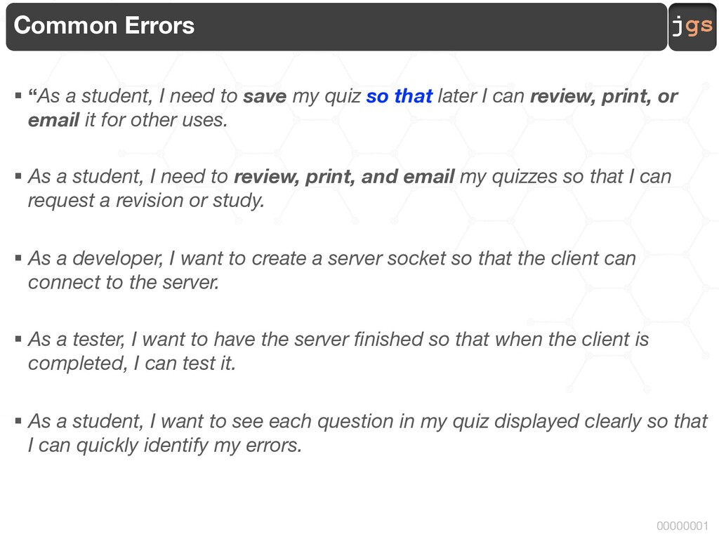 """jgs 00000001 Common Errors § """"As a student, I n..."""