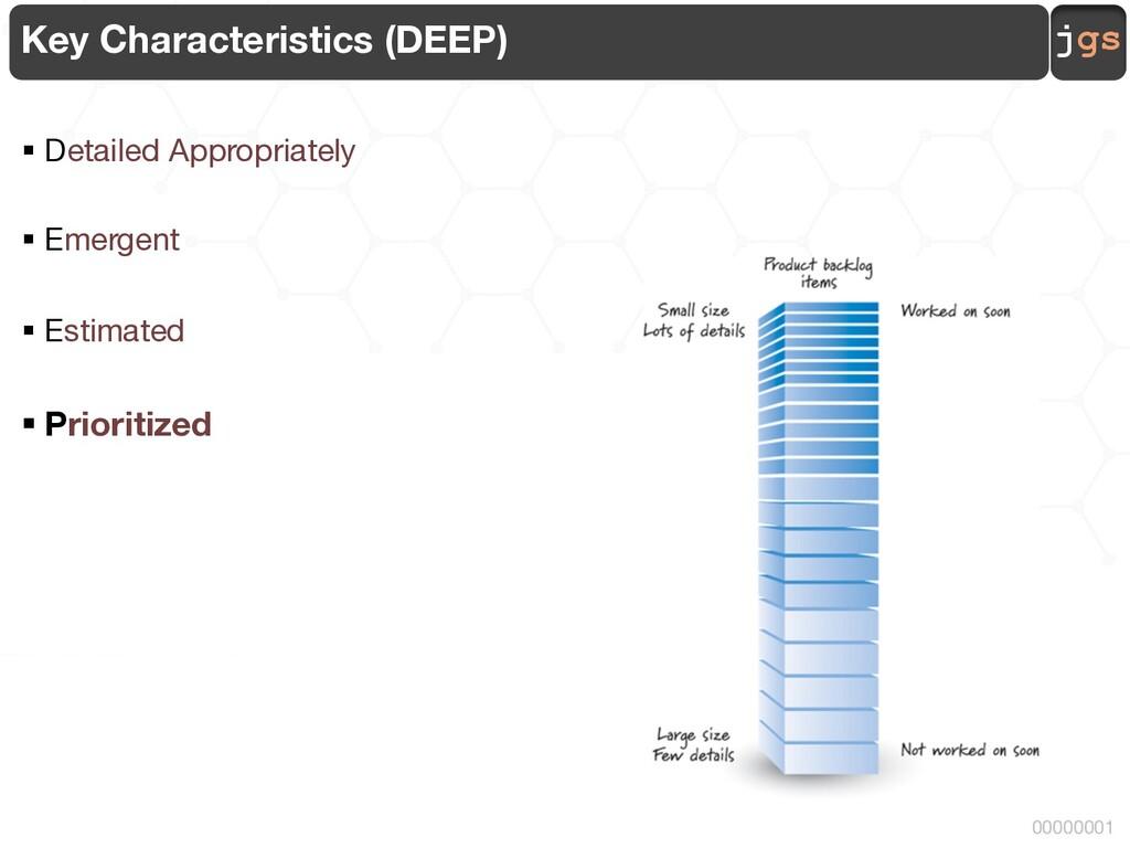 jgs 00000001 Key Characteristics (DEEP) § Detai...
